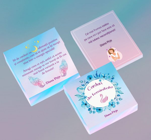 Carduri de feminitate - cartonase cu afirmatii pozitive