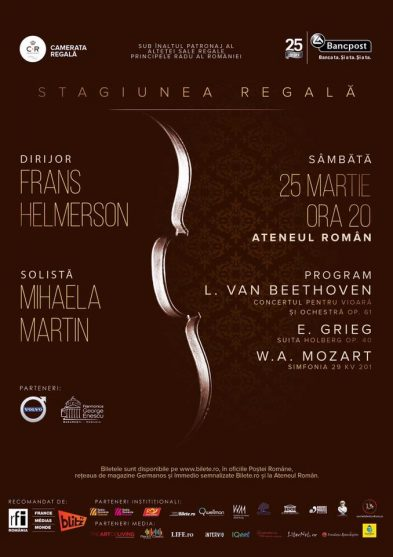 Camerata Regala: Concert Beethoven, Grieg si Mozart